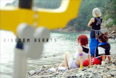 Kingdom Hearts cosplay, Sora, Kairi, Riku