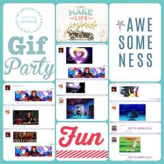 Gif Party Scrapbook Page 1