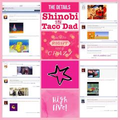 Shinobi vs. Taco Dad Scrapbook Page