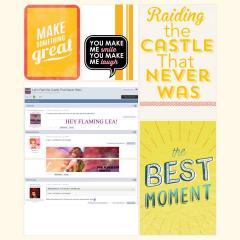 Raiding the Castle That Never Was Scrapbook Page