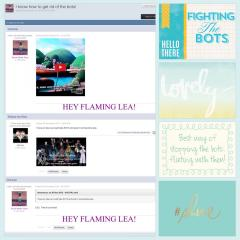Fighting the Bots Scrapbook Page