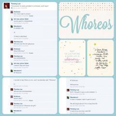 Whores Scrapbook Page