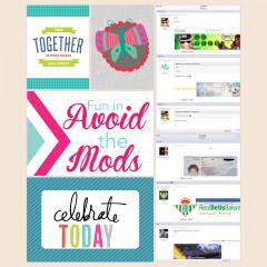 Avoid the Mods Fun Scrapbook Page