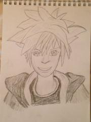 Sora Kingdom Hearts II Drawing