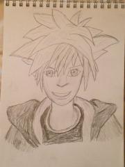 Sora Kingdom Hearts II Drawing