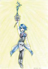 Aqua (Kingdom Hearts) Submission for KH13 Giveaway: Share your fan-art & win Kingom Hearts HD 2.5 ReMIX!