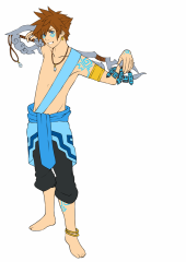 Kingdom hearts 3 Atlantis Sora (for the fan-art competition)