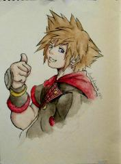 Sora Kingdom Hearts 3 Design (KH X artwork)