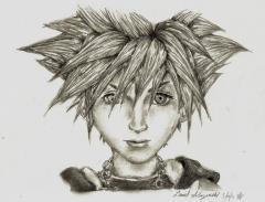 Sora Portrait - Kingdom Hearts 2