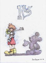 Kingdom Hearts 15th Anniversary Watercolor Sketch