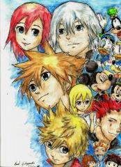 Kingdom Hearts 2 Manga Characters Drawing