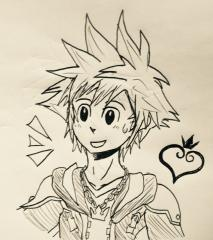 Sora sketch (KH15th anniversary)