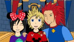 Axel, Roxas, And Xion Go To Disney