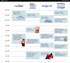 D23 Schedule