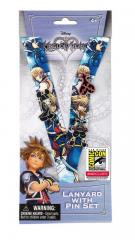 SDCC 2018 Kingdom Hearts Pin and Lanyard Set