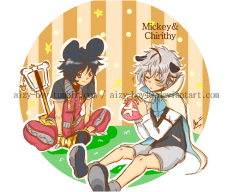 King Mickey and Chirithy!
