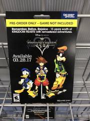 Kingdom Hearts HD 1.5+2.5 ReMIX pre-order card