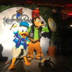 Donald Duck And Goofy In Kingdom Hearts attire At Disney Vacation Club Member's Moonlight Magic after hours event At Disneyland 2