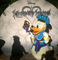 Donald Duck In Kingdom Hearts attire At Disney Vacation Club Member's Moonlight Magic after hours event At Disneyland 2