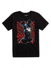 Kingdom Hearts King Mickey Black Coat t-shirt