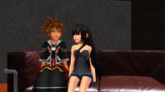 Me And sora talking On sofa