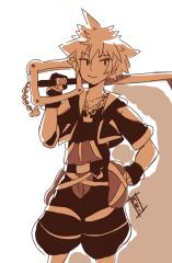 KH2 Sora doodle