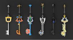 BANDAI Gacha Capsule Keyblade Keychain Set