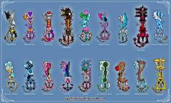 Utada Hikaru Keyblades Set