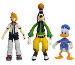 0004998 kingdom hearts select series 2 roxas donald goofy action figures