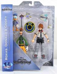 0004999 kingdom hearts select series 2 roxas donald goofy action figures
