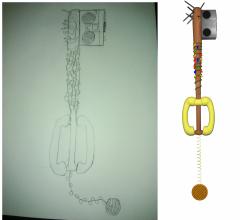 Friends Don't Lie Keyblade (Sketch To 3D Model)