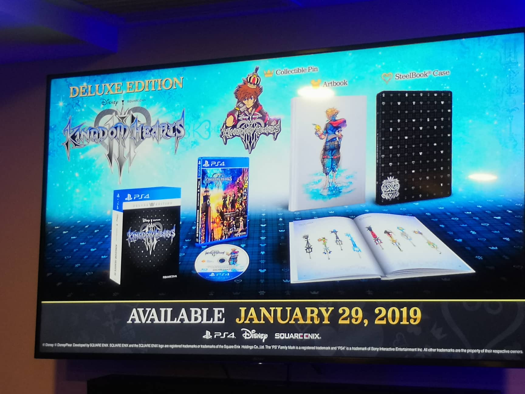 Kingdom Hearts Iii Disk Art And Limited Edition Art Book Cover