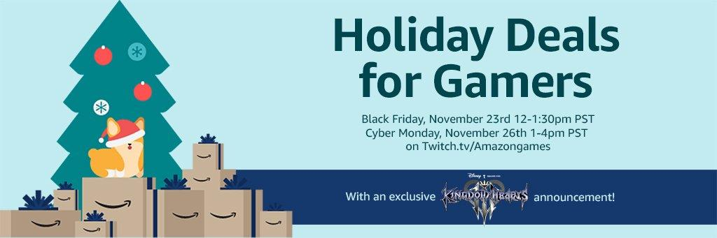 Amazon Holiday Deals for Gamers & KH3 Exclusive Announcement