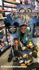 Kingdom Hearts III GameStop cardboard stand