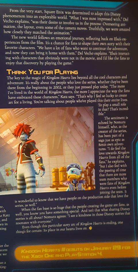 2018/11/15 - D23 Magazine Winter Issue - KH3 Feature