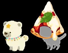 white snowcub pizza hat pet parts.png
