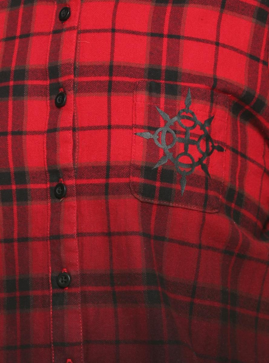 Kingdom Hearts III Axel Plaid Crop Woven Button Up