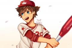 sora baseball au