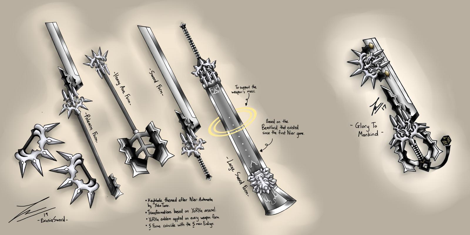 Glory to Mankind Keyblade Transformation