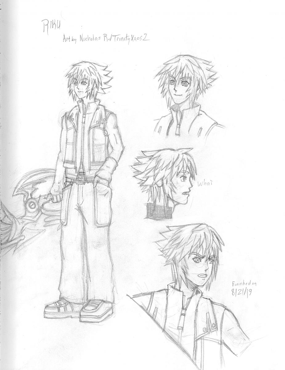 Riku - KH3 Hair and KH2 Clothes
