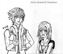 Kingdom Hearts DD Riku and Kairi