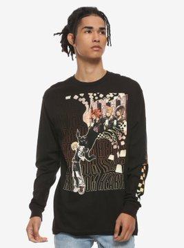 Kingdom Hearts Check Long-Sleeve T-Shirt