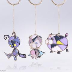 Kingdom Hearts Stained Glass Keychain Set