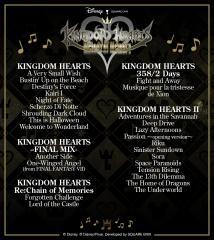 2020-11-09 Kingdom Hearts Melody of Memory Songs List