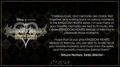 2020-11-13 Kingdom Hearts Melody of Memory Tetsuya Nomura Special Message